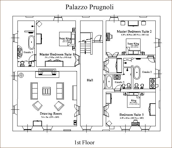 Italian Villa House Plans inside the villa | palazzo prugnoli traditional italian villa